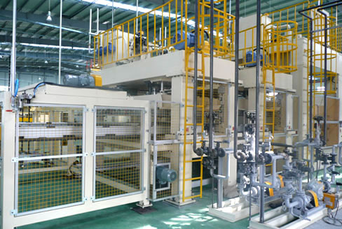 Forming line (Carpet, package tray)